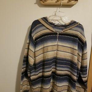 Fashion Bug oversize hooded zipper top